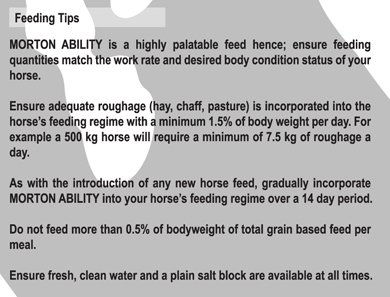 Morton Ability - feeding tips